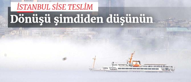 İstanbul'da ulaşıma sis engeli!