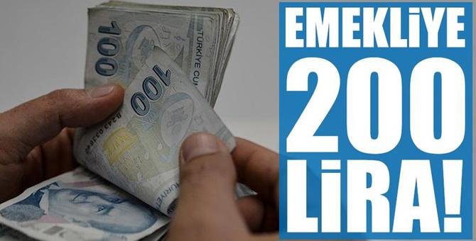 Emekliye 200 lira!