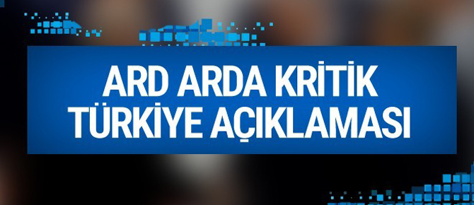 Kritik Türkiye açıklaması