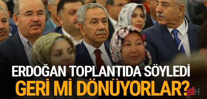 Bülent Arınç tekrar AK Parti toplantısında Erdoğan'dan yeşil ışık