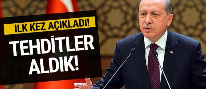 Erdoğan: Pensilvanya'dan tehditler aldık!