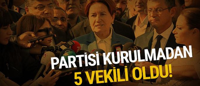Partisi kurulmadan 5 vekili oldu!