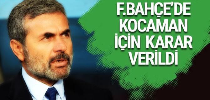 Fenerbahçe'de Aykut Kocaman için karar verildi