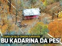İstanbul'da ormanda kumar çadırı