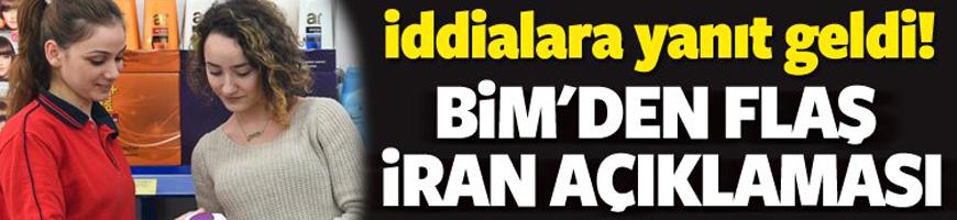 BİM'den flaş İran açıklaması