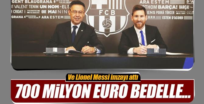 Messi imzayı attı