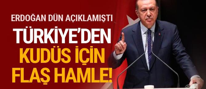 Türkiye Kudüs için harekete geçti! Flaş hamle