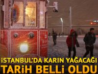 İstanbul'a karın yağacağı tarih belli oldu