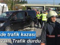 Kurtköy'de zincirleme trafik kazası.. Yaralılar var