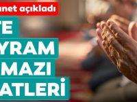 İstanbul, Ankara, İzmir Kurban bayram namazı saat kaçta?