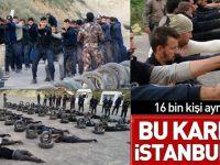Görüntüler İstanbul'dan! 16 bin polis ve bekçi