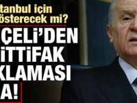 Bahçeli'den ' Sondakika İstanbul' açıklaması