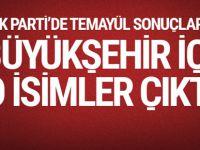 AK Parti'de büyükşehirler için temayülden o isimler çıktı
