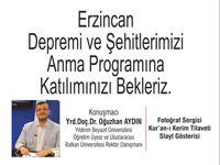Erzincanlılar Şehitleri'ni anıyor!