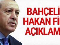 Cumhurbaşkanı Erdoğan'dan Bahçeli ve Fidan  açıklaması