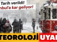 İstanbul'a kar geliyor! Tarih verildi..