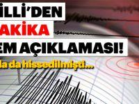Depremle ilgili Kandilli'den son dakika açıklaması!