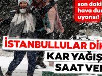 İstanbul için kritik uyarı! Kar yağışı bu gece...