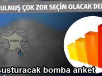 Ankara ve ilçelerinde son seçim anketi..