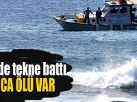 Dicle'de tekne battı onlarca ölü var