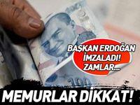 Başkan Erdoğan imzaladı! Memurlar dikkat