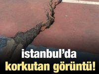 İstanbul'da korkutan manzara