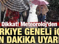 Türkiye geneli için son dakika uyarısı