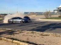 Tuzla'da iki lüks araç trafiği tehlikeye attı