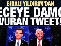 Binali Yıldırım'dan geceye damga vuran tweet