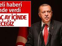 Erdoğan açıkladı; Bir kaç ay içinde..