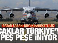 Pazar sabahı hareketli saatler! Uçaklar Türkiye'ye peş peşe iniyor
