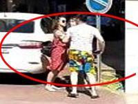 Genç kız, erkek arkadaşına kafa attı!