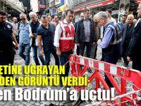 İstanbul'da birkaç saat kalıp Bodrum'a geri döndü