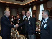 Cumhurbaşkanı Erdoğan, gazileri kabul etti