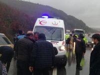 İETT Otobüsü devrildi; 1 ölü 12 yaralı var