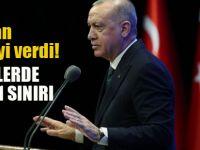 Erdoğan duyurdu: Yüzde 1 sınırlama geldi
