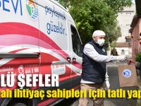 Ünlü şefler Tuzla'da  ihtiyaç sahipleri için tatlı yaptı