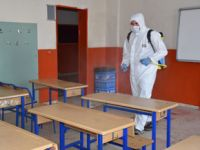 Pendik'te LGS öncesi okullar dezenfekte ediliyor