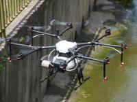 Tuzla'da drone ile ilaçlama