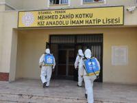 Okullar baştan aşağa dezenfekte ediliyor