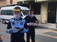 Pendik'te Koronavirüs hastalarına karantina denetimi