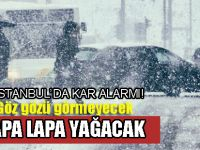 Öyle böyle değil! İstanbul'a son yılların en yoğun karı geliyor