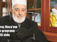 Emin Saraç Hocaefendi'nin cenaze programı belli oldu