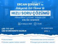 Online seminer: Ercan Şeremet ile anlayarak hızlı okuma