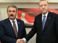 Başkan Erdoğan'la BBP Başkanı arasında önemli görüşme