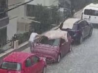İstanbul'da şiddetli dolu yağışı! Anadolu Yakası..