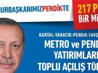 Cumhurbaşkanı Erdoğan  Pendik'e geliyor