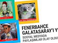 Galatasaray Fenerbahçe maçı sosyal medyada olay oldu!