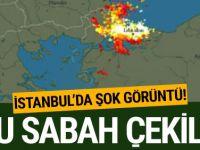 Bu sabah İstanbul'da çekilen şok görüntü!
