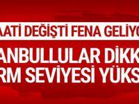 İstanbul hava durumu MGM alarm seviyesini yükseltti